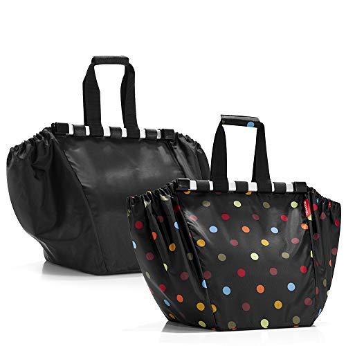 reisenthel easyshoppingbag 2tlg. Einkaufstasche Einkaufsbeutel shoppingbag easybag (Black + dots)