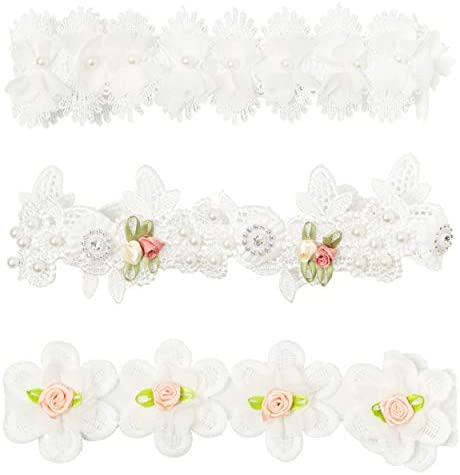 Awant Baby Girl lace Headbands Flower Crown Newborn Infant Toddler beautiful Hair Band Elastic product image