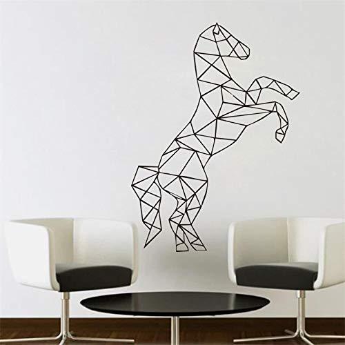 yaonuli Geometrische Wandaufkleber Wohnzimmer Wandtattoo Vinyl Home Decoration Erhöhen Sie die Vorderfüße 87X94cm