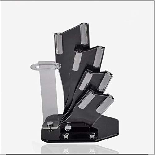 Blocs couteaux Timhome support acrylique de support en céramique for la cuisine bloc de céramique for 3 « » 4 « » 5 « » 6 « entreposage couteaux »