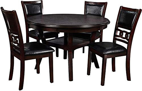 New Classic Furniture D1701-50S Gia Round 5 Piece Dining Set, Ebony