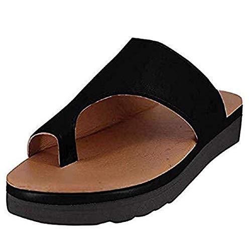 PerfectWalk Orthopedic Premium Toe Corrector Sandals Bunion Splints,Damen Big Toe Hallux Valgus Unterstützung Plattform Sandale Schuhe Für Die Behandlung (41, Black)