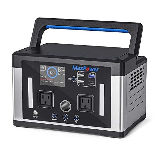 MaxPower ポータブル電源MP700J 156200mAh/700W/580WH純正弦波 PSE認証 ソーラー充電MPPT急速充電QC3.0、PD...