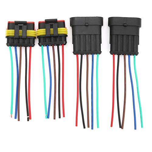 Conector eléctrico Enchufe Conectores de alambre impermeables 2 juegos de alambre AWG marino para conexiones de alambre Equipo eléctrico (5P)