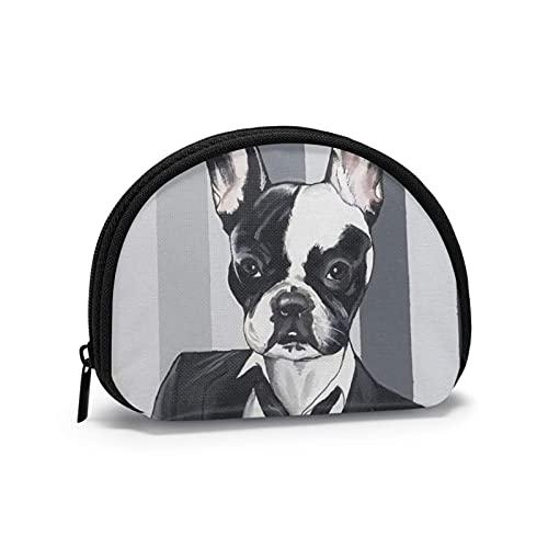 Bello vestito uomo bulldog francese stampato borsa per il cambio a tema carino borsa portaoggetti guscio portafogli ragazza bule portamonete portachiavi gifys donna novità