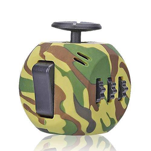 VCOSTORE Fidget Cube Toys,Premium Quality Fidget Cube,Reduce Stress and Anxiety Relief for All Ages with ADHD ADD OCD Autism (Camouflage-Army