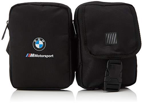 PUMA BMW M Motorsport Utility Bag Riñonera, Unisex-Adult, Black, OSFA