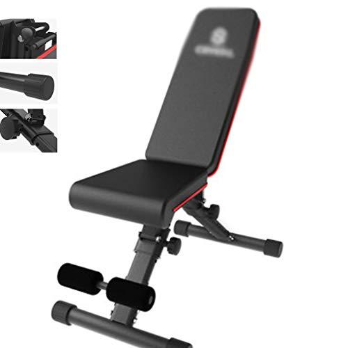 Hantelbänke Flachbank Haus Multifunktionale Fitnessgeräte Klapp Sit-up Brett Home Fitness Stuhl, Last 300kg (Color : Black, Size : 105x41x48cm)