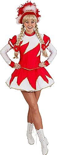 O9755 rot-Weiß Damen Funkenkostüm Mariechenkostüm
