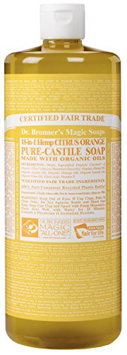 Dr. Bronner 's Magic Seifen 18 in 1 Hanf Citrus Orange Pure Castille Seife, 32-O (japan import)