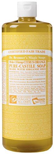 Dr. Bronner 's Magic Seifen 18in 1Hanf Citrus Orange Pure Castille Seife, 32-O (japan import)