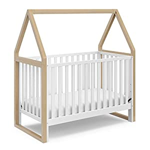 Storkcraft Orchard 5-in-1 Convertible Crib (Driftwood) – Easily Converts to Toddler Bed, Daybed, Full-Size Bed, and Playhouse, Detachable Canopy, 3-Position Adjustable Mattress Support Base