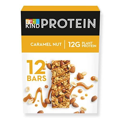 BE-KIND PROTEIN Caramel Nut – Barres protéinées de fruits à coque sans gluten – Pack de 12 barres