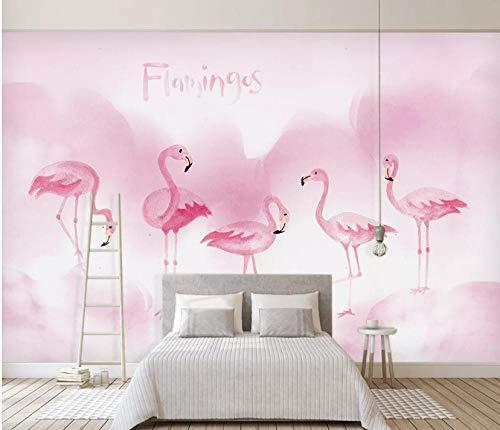 wandbild schlafzimmer Pink Flamingo Tapete Wandbild Kinderzimmer Dekoration Tapete 150×105cm
