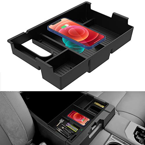 CarQiWireless for Tundra 2007-2021, Wireless Charging Tray Center Console Organizer for Toyota...