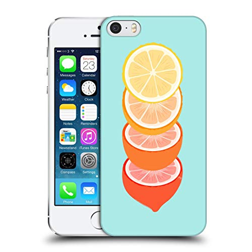Head Case Designs Licenza Ufficiale Martina Illustration Limoni Summer Vibes Cover Dura per Parte Posteriore Compatibile con Apple iPhone 5 / iPhone 5s / iPhone SE 2016