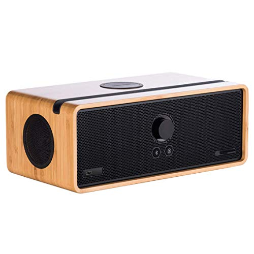 Orbitsound DOCK E30 - Bluetooth/Wi-Fi Speaker System with Airsound (Bamboo)