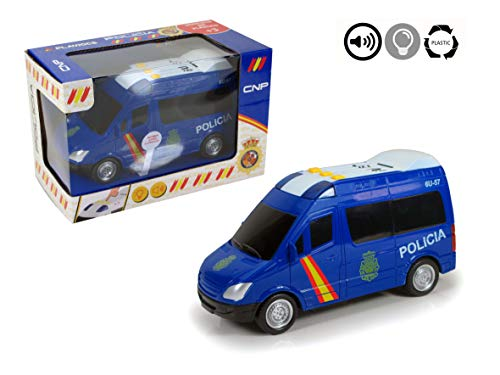 PLAYJOCS Furgón Policía Nacional luz, Sonido y fricción GT-4818