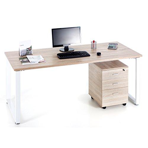 Scrivania ufficio studio camera cm 180 colore rovere