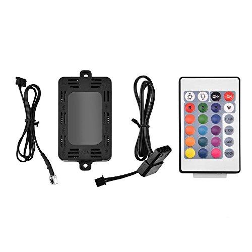 Tonysa Telecomando per Controller LED RGB con Dispositivo di Raffreddamento a LED con 4 modalità di Illuminazione, luminosità Regolabile per Ventola per PC