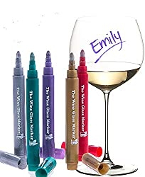 metallic wine markers gift for wine lovers