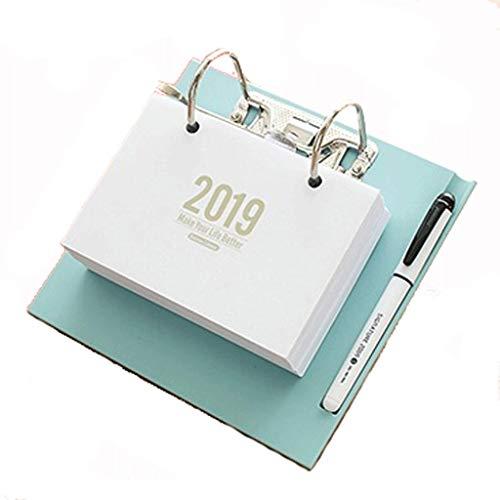 Creative DIY2019 Desk Calendar Flip Puede desgarrar la personalización del Calendario, Simple Desktop Office Plan Calendar (Color : Blue)