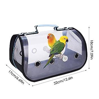Germplasm Sac de transport pour oiseaux - Transparent - Respirant - Léger - Avec perchoir en bois