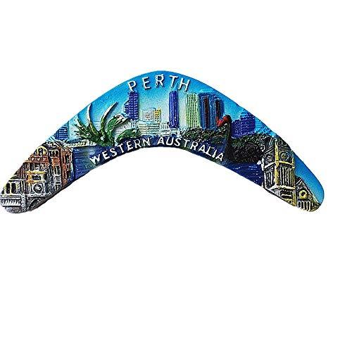Imán para nevera Perth Australia para el hogar y la cocina, decoración magnética de Australia imán para nevera colección