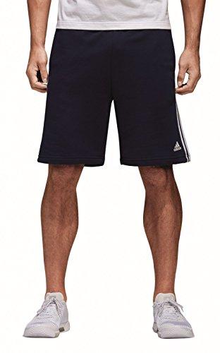 adidas ESS 3S FT Pantalón Corto, Azul/Blanco (Maruni), S para Hombre