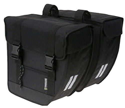 Basil Tour XL podwójna torba rowerowa, czarna, 35 cm x 16 cm x 37 cm