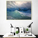 Canvas Wall Art For Living Room Decor Ivan Aivazovsky《Blue wave》Wall Art For Bedroom Decor Canvas paintings Pictures For Bedroom Wall Decorations For Living Room 50x65cm 20'x26'No Framed