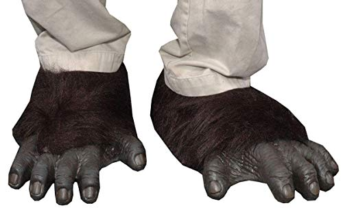 Zagone Gorilla Feet, Black Faux Fur, Black Latex Toes/Feet