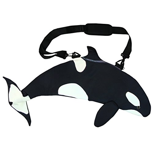 Pealra Killer Whale Bag, Black/White, One Size