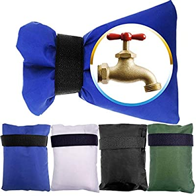 4 Pack Outdoor Faucet Covers Socks for Winter Freeze Protection, 8.3 by 5.9 Inch