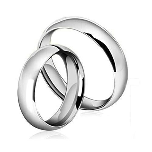 Coniea Eheringe Vintage 4/6Mm Silber Polierter Ring Komfort Fit Damen Gr.49 (15.6) und Herren Gr.67 (21.3)