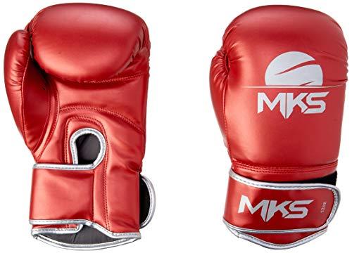 Luva de Boxe Energy, Tamanho 10Oz,MKS, Vermelho Metálico