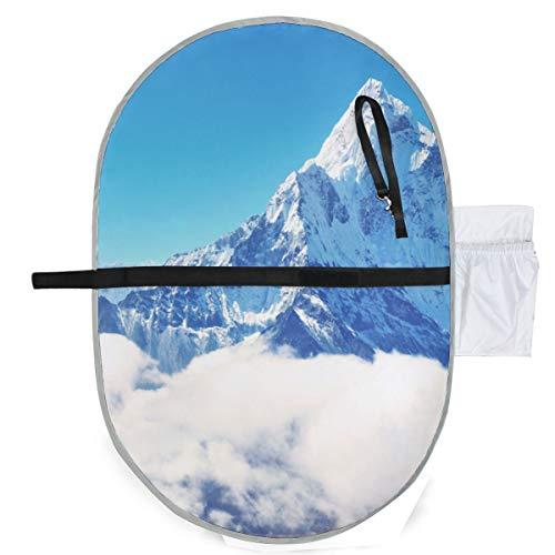 Matelas à langer belle hiver neige montagne maison matelas à langer 27x10 pouces étanche mat pliable bébé portable table à langer bébé matelas à langer