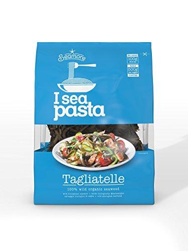 Seamore Bio Algen Nudeln I Sea Pasta Tagliatelle, 100 g | Bekannt aus Galileo | Glutenfrei, Low Carb, Vegan, Nachhaltig & ohne Gentechnik, 8717953254603,