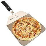 Alpina Pizzaschieber für den Ofen, Pizzaschaufel mit praktischen...