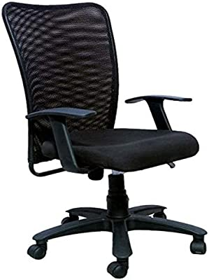 AVEON Steel Office Arm Chair (Black)