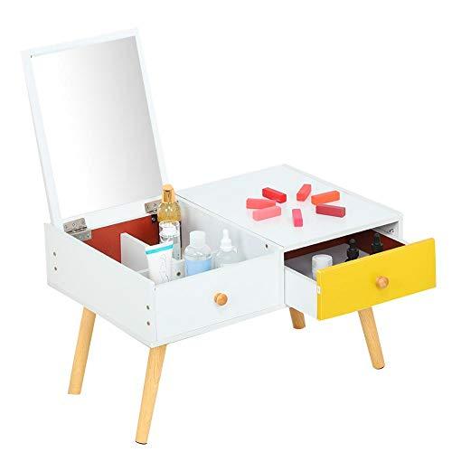Uxsiya Mesa de maquillaje Escritorio Blanco con Espejo para Baño Belleza para el Hogar para Decoración para Niñas Mujeres