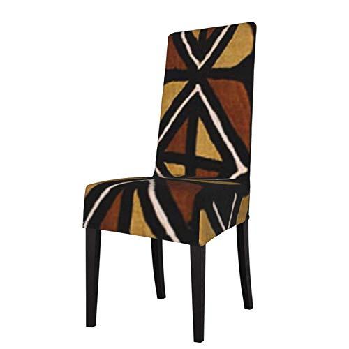 Fundas para sillas de Comedor Estampadas elásticas con patrón de Tela de Barro de Kenia, Fundas Protectoras para sillas de Comedor suav