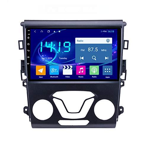 Android 9.1 Radio Satelital Para Automóvil Reproductor Multimedia De 9 Pulgadas Para Ford MONDEO 2013-2017 Pantalla Autoradio 2.5D Con WiFi Bluetooth FM AM Control Del Volante(Color:WIFI 2G+32G)