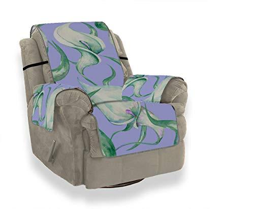 Yushg Weiß Elegant Noble Floral Calla Einzelsofabezug Sofakissen Elastischer Bezug Schonbezug Ohrensessel 21