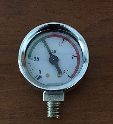 PAVONI Kessel-Manometer D40 0-2,5 BAR verchromt für Pfauen-Kaffeemaschinen (Professionell, Romantik, Radivarien). Artikel aus Chisko it:1K8559