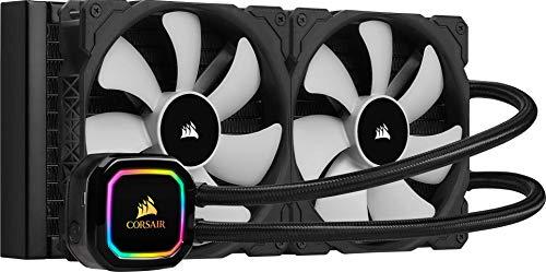 Corsair iCUE H115i RGB Pro XT Refrigerador Líquido para CPU, Radiador de 280 mm, Dos Ventiladores Corsair ML PWM de 140 mm, 400-2000 RPM, Cabezal de Bombeo RGB Dinámico y Multizona, Color Negro