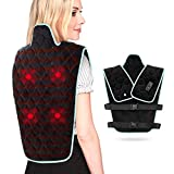 Heating Pad for Back Pain Relief, 27'x20' Wearable Large Heated Pad for Back and Shoulders with 3 Vibration Modes, Fast Heating Electric Heating Pad for Cramps Auto Shut Off