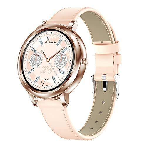 Pomety Smart Watch Multifuncional ECG ECG Oxígeno Oxígeno Presión Arterial Sueño Impermeable Paso Contador Deportes Pulsera de Salud (Color : Gold Skin)