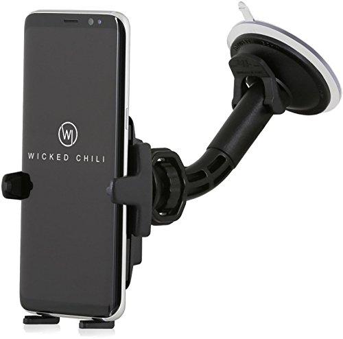Wicked Chili KFZ Halterung mit Kugelgelenk kompatibel mit Samsung Galaxy S10 / S10e / S9 / S8 / A60 / A2 Core / A40 / A10e / M40 Handy Autohalterung Smartphone (Made in Germany, für Hülle und Case)