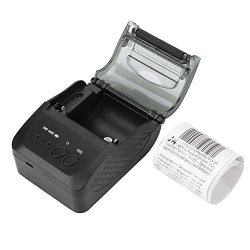 Hakeeta Drahtloser Bluetooth Thermodrucker 48 mm, Thermal Receipt Ticket Drucker, Bondrucker mit USB- / Seial Anschluss, Kompatibel mit iOS Android Windows(EU)